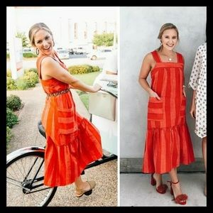 Tonal striped dress